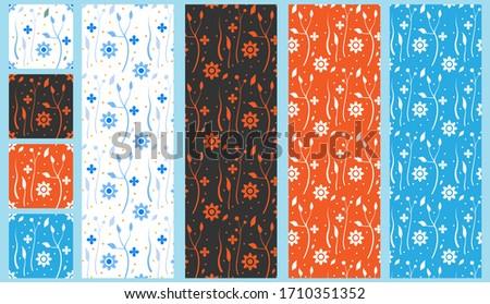 Simple minimalist beautiful floral tappet. Сток-фото ©
