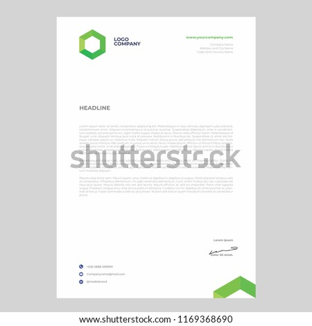 simple minimalist letterhead