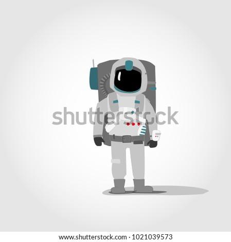 simple minimalistic astronaut