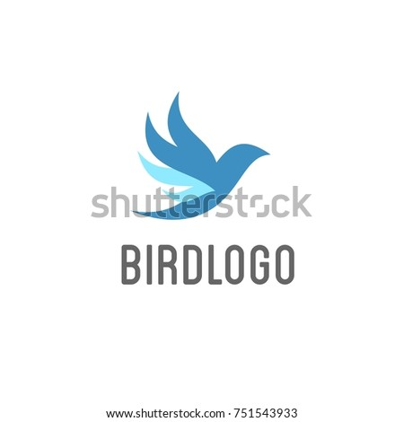simple modern bird fly logo