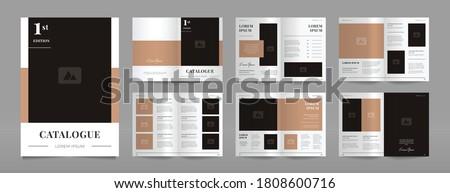 simple modern brown catalogue design template