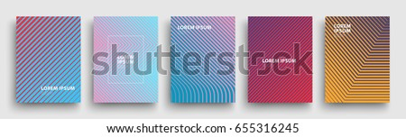 Simple Modern Covers Template Design. Set of Minimal Geometric Halftone Gradients for Presentation, Magazines, Flyers, Annual Reports, Posters and Business Cards. Vector EPS 10 #655316245