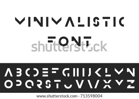 simple modern font vector