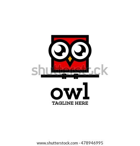 simple modern owl logo template
