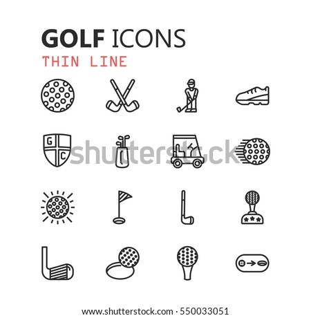 simple modern set of golf icons