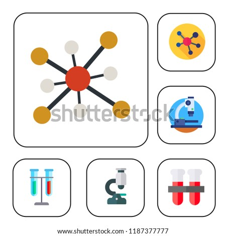 Simple modern set of  microbiology icons such as molecule,microscope,test tubes. microbiology icons use for seb and mobile.