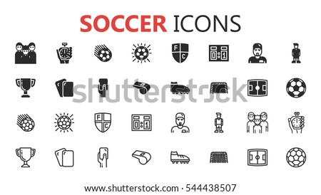 simple modern set of soccer and
