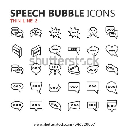 Simple Modern Set Of Speech Bubbles And Dialogs Icons Premium Symbol Collection Vector Illustration