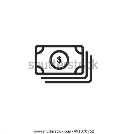 Simple Money icon. Universal cash icon. Vector Icon