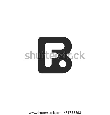 Simple monogram logo made from black letters B and F Stock fotó ©