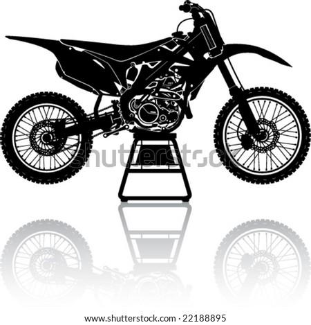 simple motorcross cycle in