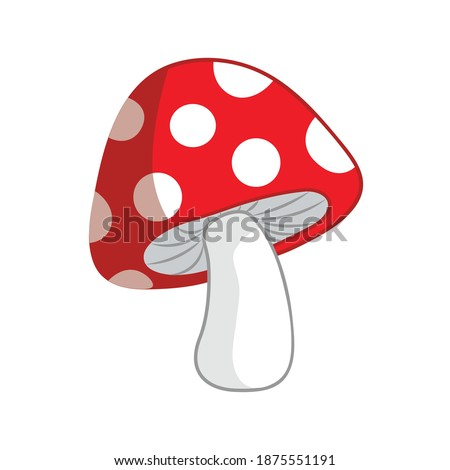 Simple mushroom vector isolated. Red fly agarics.  Foto stock ©