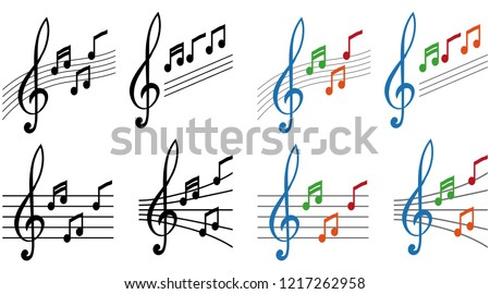 simple musical note symbol, treble clef concept, music notes with treble clef, music label, treble clef sign, musical note logo, vector artwork