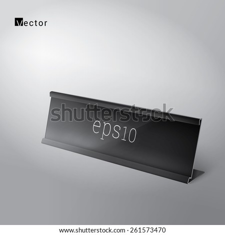Simple Nameplate Vector Illustration for Your Corporate Branding Design