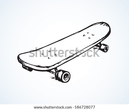 simple old skate isolated on