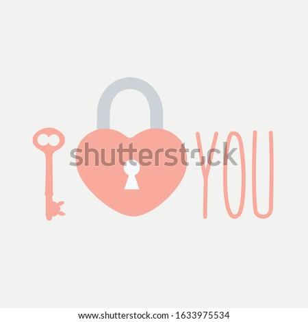 simple padlock lock of love