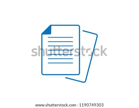 Simple 2 page document icon