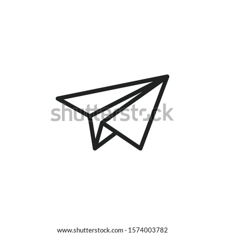Simple paper plane line icon. Stroke pictogram. Vector illustration isolated on a white background. Premium quality symbol. Vector sign for mobile app and web sites.