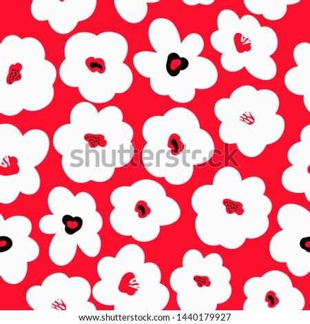 simple pattern of flowers
