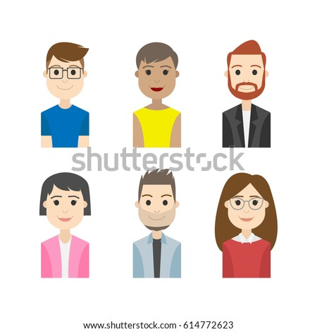 Shutterstock simple people avatar business and carrier character