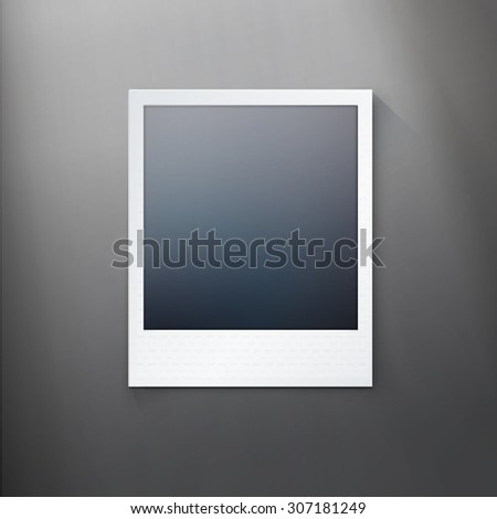 simple photo frame mock up for