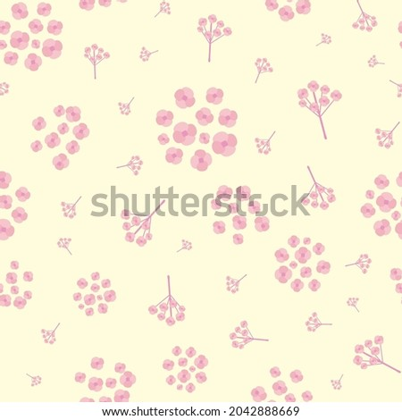 simple pink forget me not