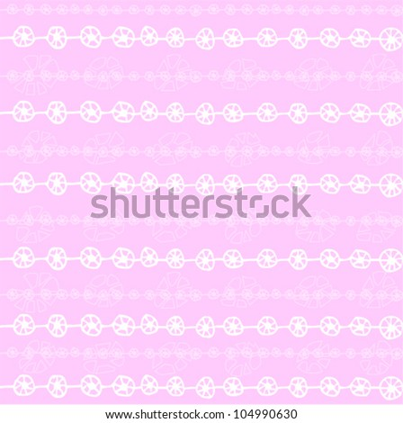 Simple pink seamless background with horizontal pattern. Vector illustration.