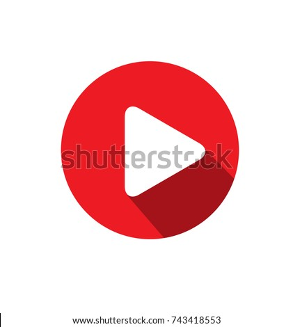 Simple Play Button Icon Vector