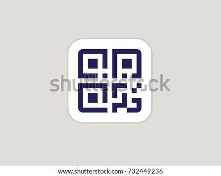 Simple QR code. Vector QR code icon Stock photo ©