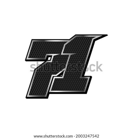 simple racing start number 71