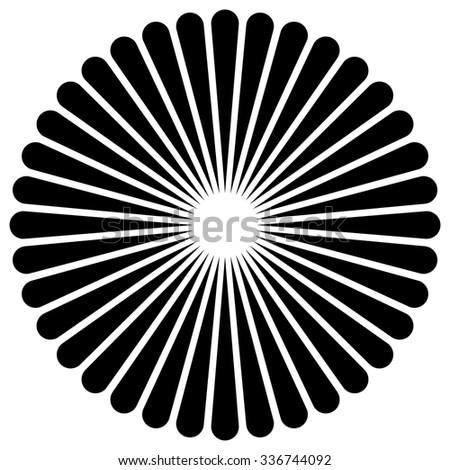 simple radial motif