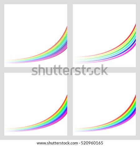 simple rainbow colored curved