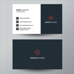 simple red and grey business card design