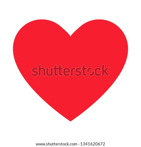 simple red heart decorative