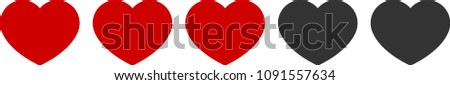 simple red heart life gauge 3