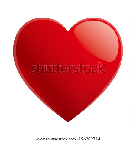 simple red heart sharp