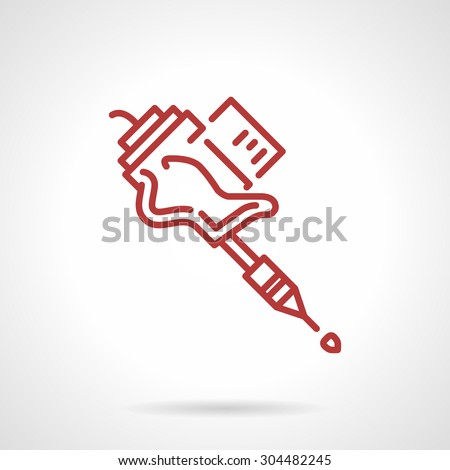 simple red line design vector