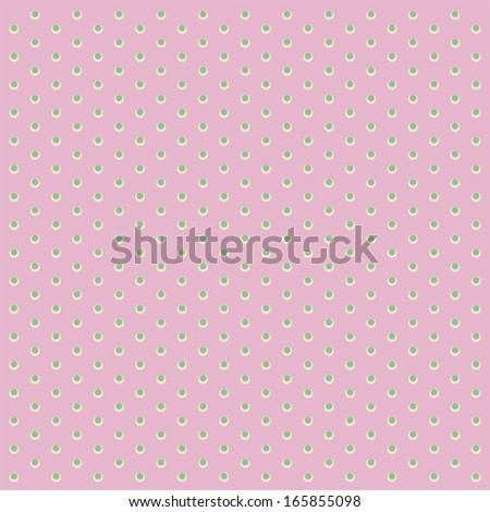 Simple retro background with dots for baby shower invitation as old fabric ornament