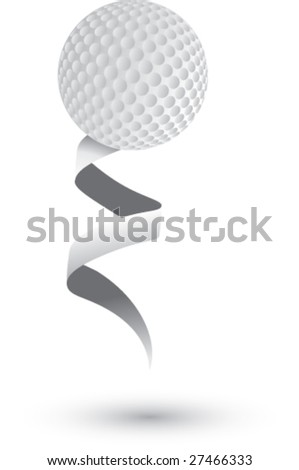 simple ribbon golf ball