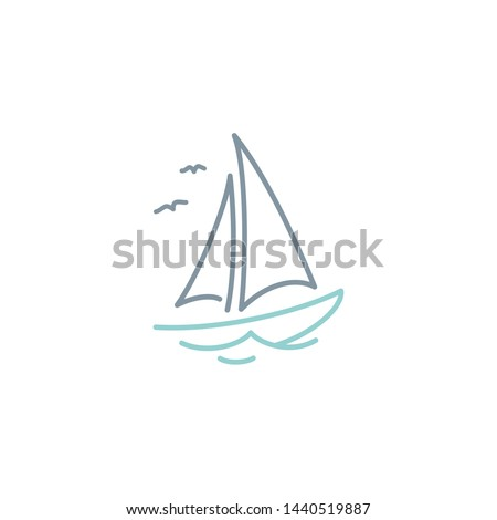 simple sailboat dhow ship line