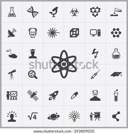 simple science icons set