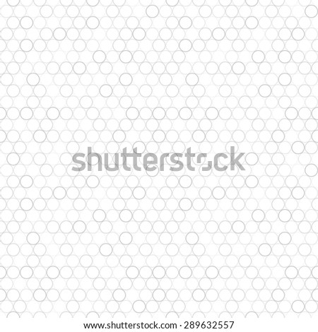Simple seamless mosaic pattern with circles. White and grey texture.