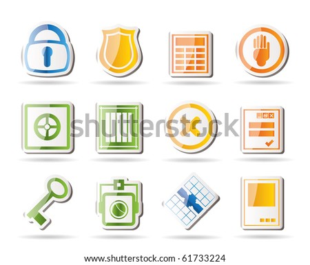 Simple Security and Business icons - vector icon set