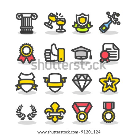 Simple series | Awards & Prizes icon set