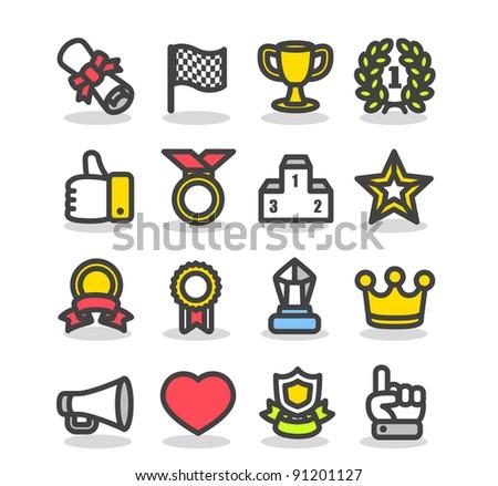 Simple series | Awards & Prizes icon set