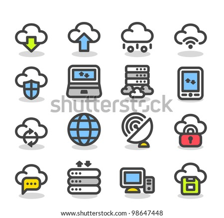 Simple Series | Internet,business,cloud computing icon set