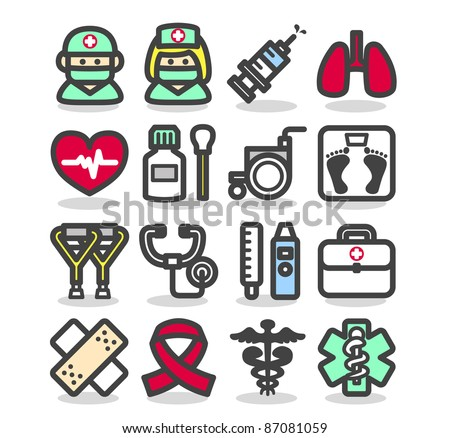 Simple series | Medical ,Emergency ,health care  icons set