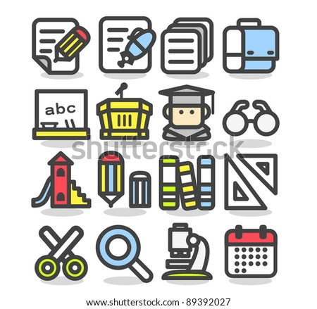 Simple series | school,education,research icon set