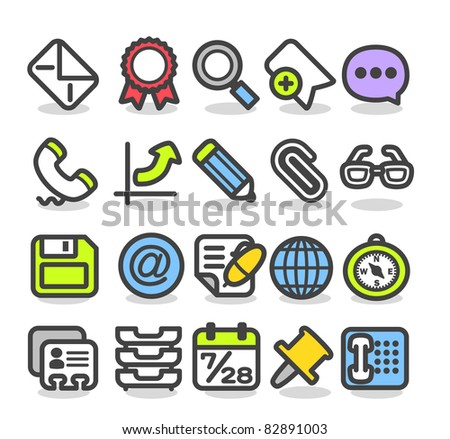 Simple series   Web,Internet, Business icons Set