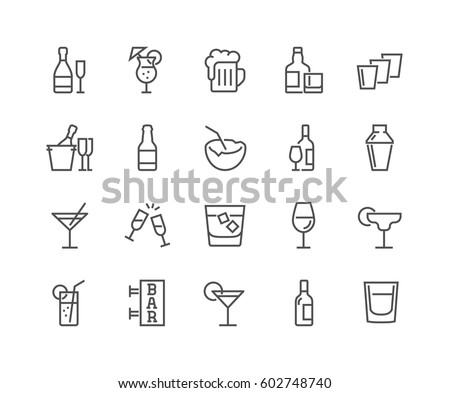 simple set of alcohol related